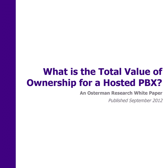 What Is the Total Value of Ownership for a Hosted PBX?